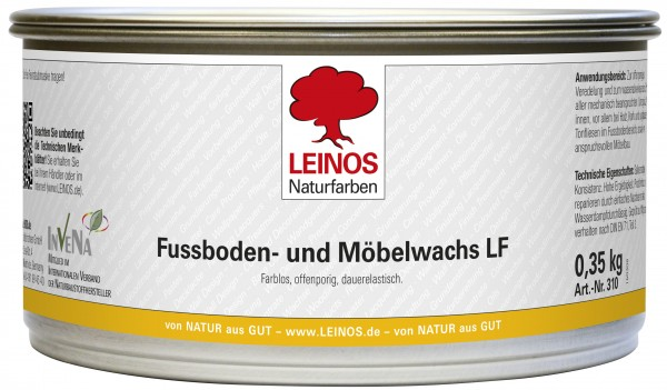 Leinos Fußboden-und Möbelwachs LF lösemittelfrei 0,35 kg